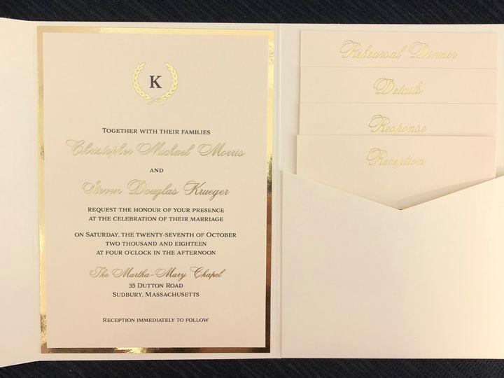 Tmx Morris Pocket 2 51 108208 Quincy, MA wedding invitation