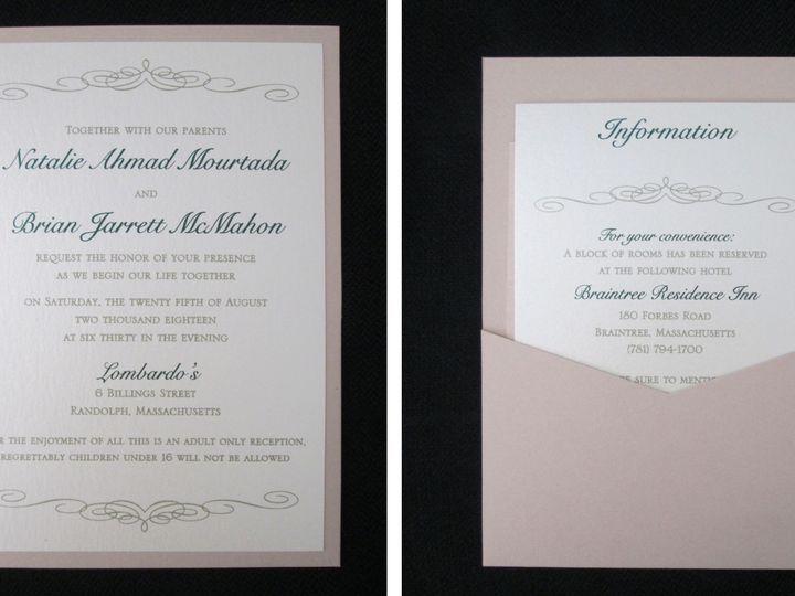 Tmx Mourtada Pocket Card 8 25 18 51 108208 Quincy, MA wedding invitation