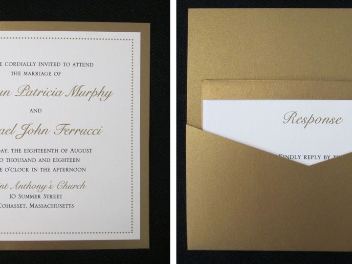 Tmx Murphy Pocket Card 8 18 18 51 108208 Quincy, MA wedding invitation