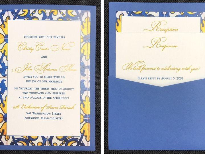 Tmx Neves Pocket Card 8 31 19 51 108208 1572547129 Quincy, MA wedding invitation