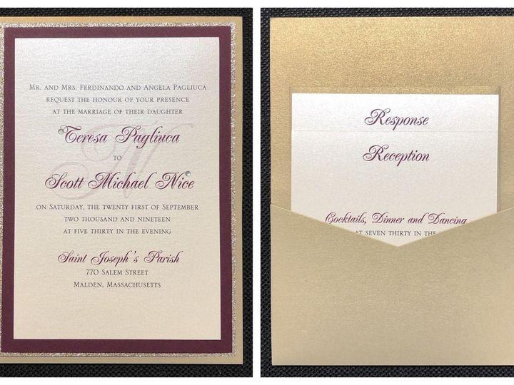 Tmx Pagliuca Pocket Card 9 21 19 51 108208 1572547135 Quincy, MA wedding invitation