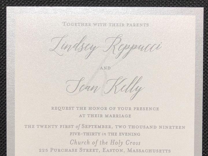 Tmx Reppucci 2 Layer 9 21 19 51 108208 1572545622 Quincy, MA wedding invitation