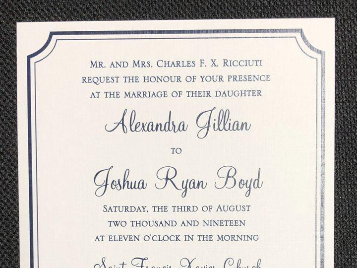 Tmx Ricciuti Single Layer 8 3 19 51 108208 1572545636 Quincy, MA wedding invitation