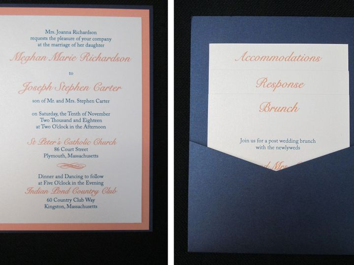 Tmx Richardson Pocket Card 11 10 18 51 108208 Quincy, MA wedding invitation