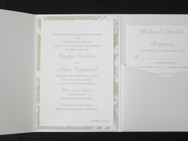 Tmx Samperi Pocket 7 14 18 51 108208 Quincy, MA wedding invitation