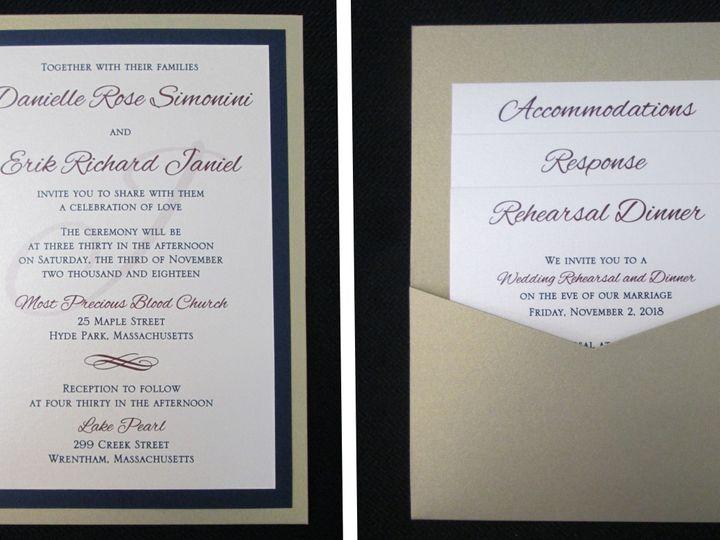 Tmx Simonini Pocket Card 11 4 18 51 108208 Quincy, MA wedding invitation