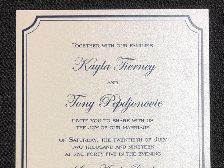 Tmx Tierney Single Layer 7 20 19 51 108208 1572545626 Quincy, MA wedding invitation