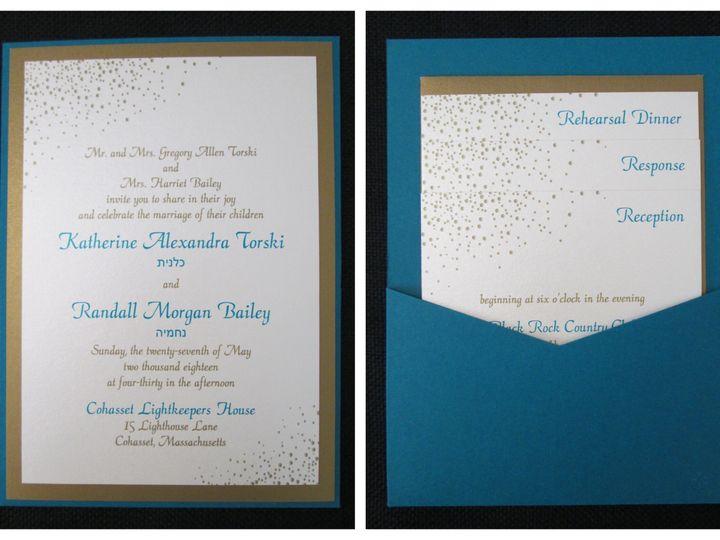 Tmx Torski Pocket Card 5 27 18 51 108208 Quincy, MA wedding invitation