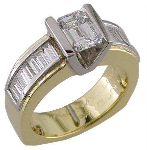 Ring Weber PincessDwithbaguettes