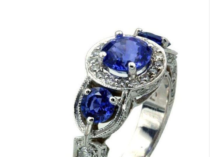 Tmx 1253558383310 Ring.Transki.WGsapphire2 Santa Barbara wedding jewelry