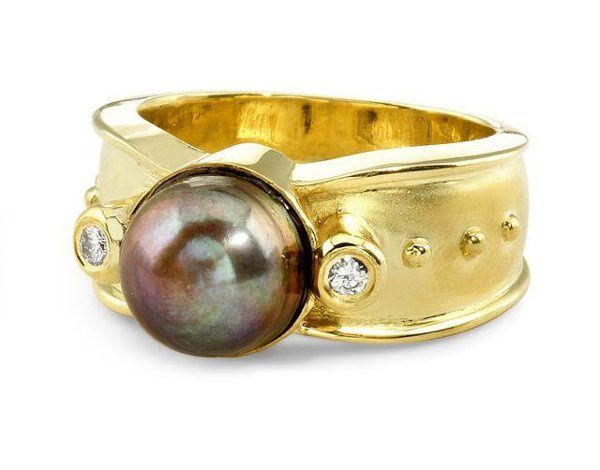 Tmx 1253577682749 Ring.Hoffman.biggreypearl Santa Barbara wedding jewelry
