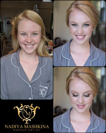 Bridesmaid's makeup