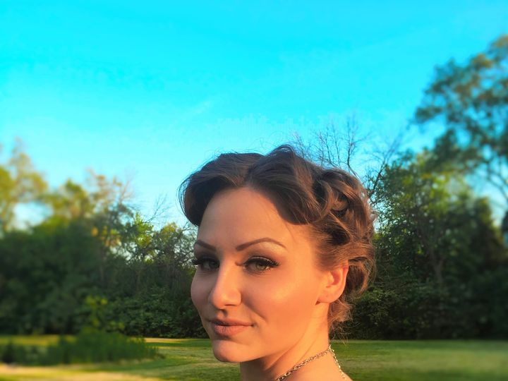 Tmx 1465878498869 Jackie Retro Updo Naperville, IL wedding beauty