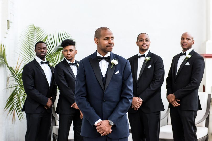 A groom and his men