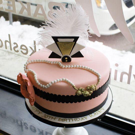 art deco birthday cake 1