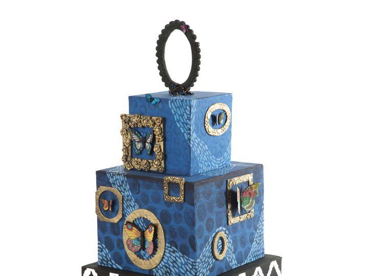 Tmx 1404404122277 Framed Papillon Wedding Cake Whipped Bakeshop Philadelphia wedding cake