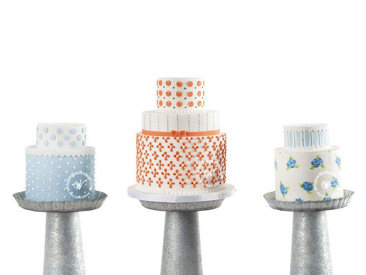 Tmx 1404404134200 Petite Prints Cake Trio Wedding Whipped Bakeshop Philadelphia wedding cake