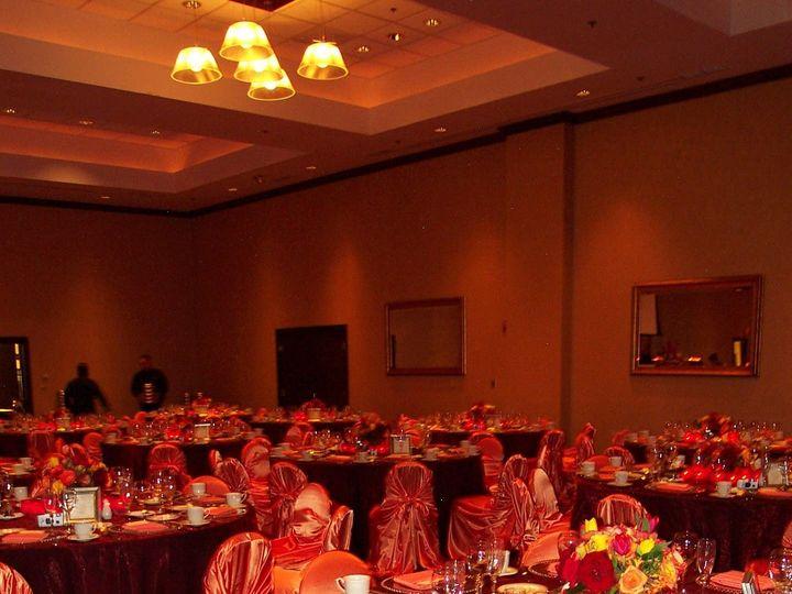 Tmx 1374681741687 Guest Tables Red Linen Mckinley Aurora, Ohio wedding venue