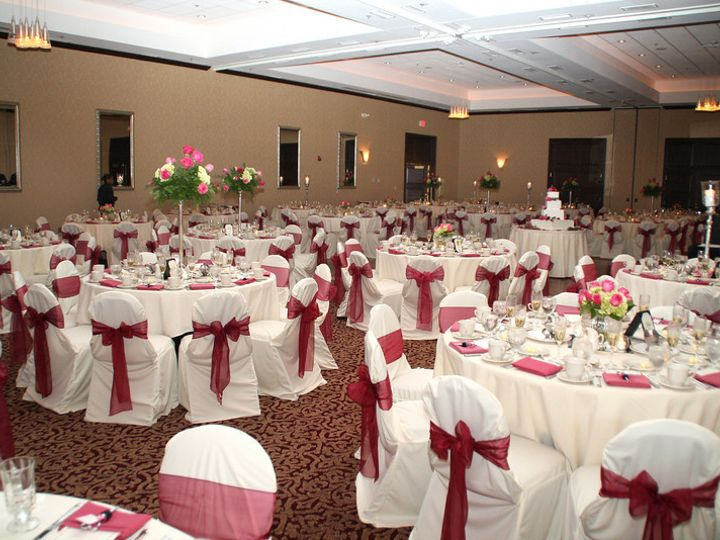 Tmx 1374701513216 White  Pink Ballroom With Chair Covers Aurora, Ohio wedding venue