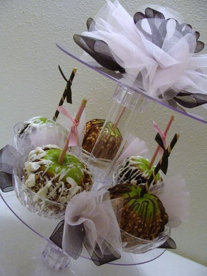 Tier of Apples for a Wedding
