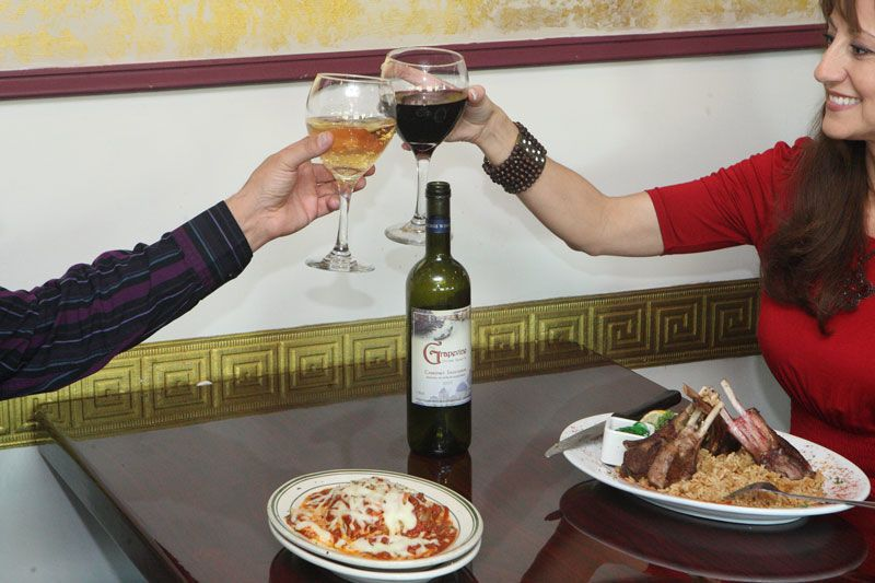 toast with grapevine wine