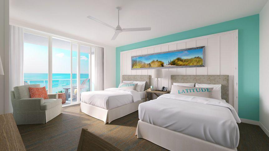 Bedroom double beds