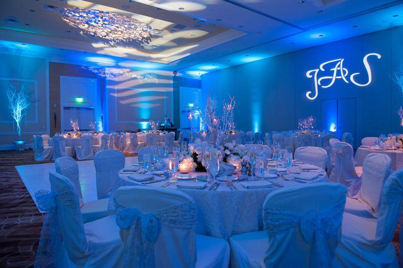 Indoor space in blue
