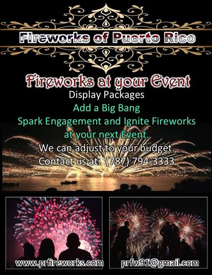 Fireworks Display Private Events.