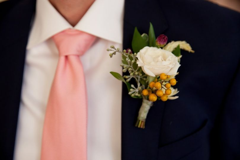 Tux with boutonniere