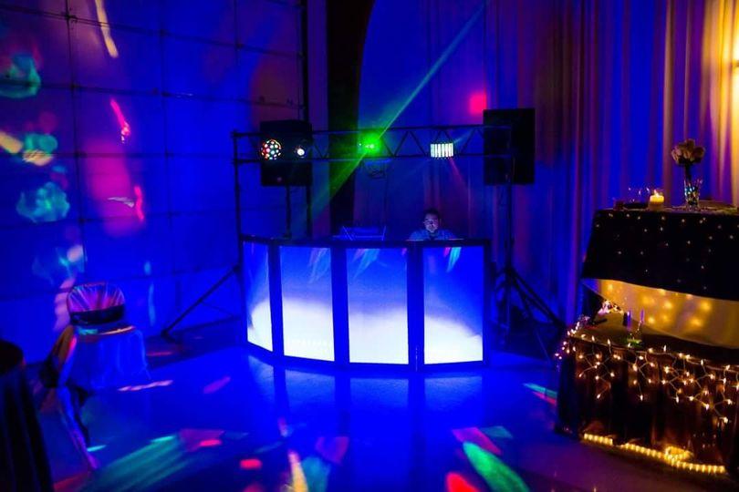 DJ table setup