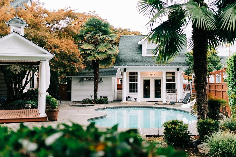The Poolhouse and gazebo