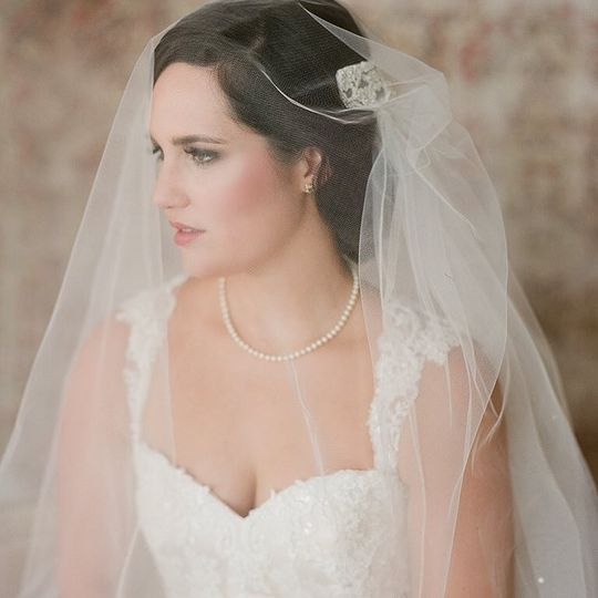 The bride in her veil
