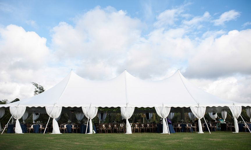 Wedding reception tent at the Farm at High Shoals near Athens, GA. (Photo by Kaitie Bryant...