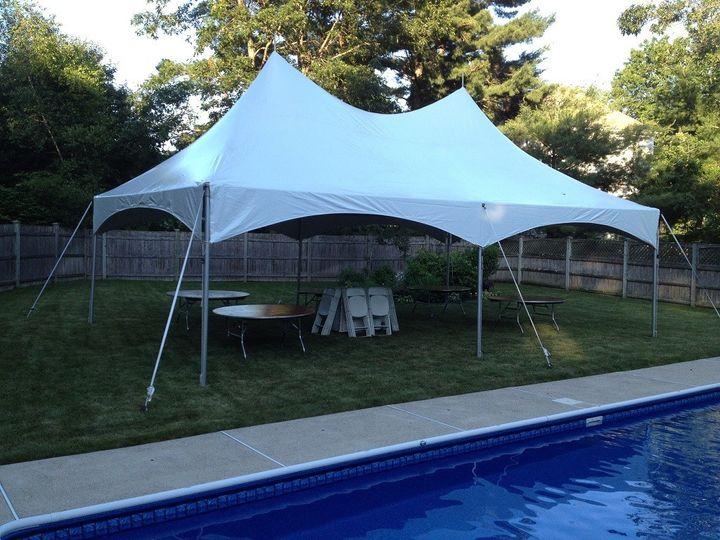 20x30 high peak frame tent rental 1