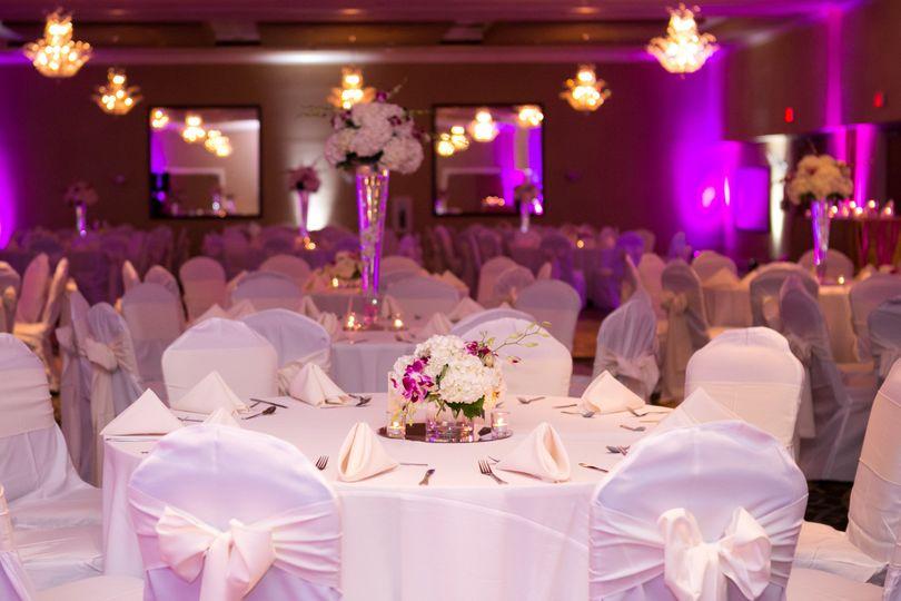 Lakeside ballroom wedding reception