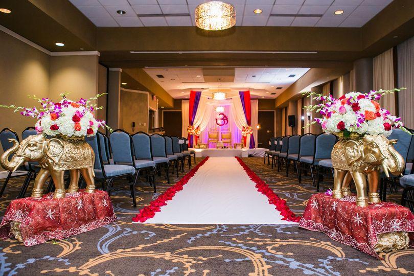Manatee ballroom ceremony