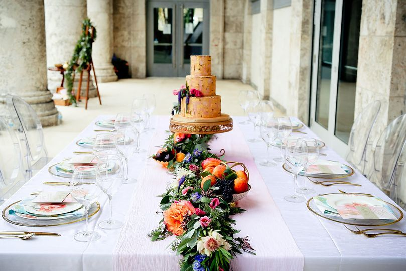 Wedding cake on the head table