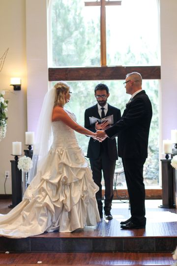 Officiant Phil Gallagher