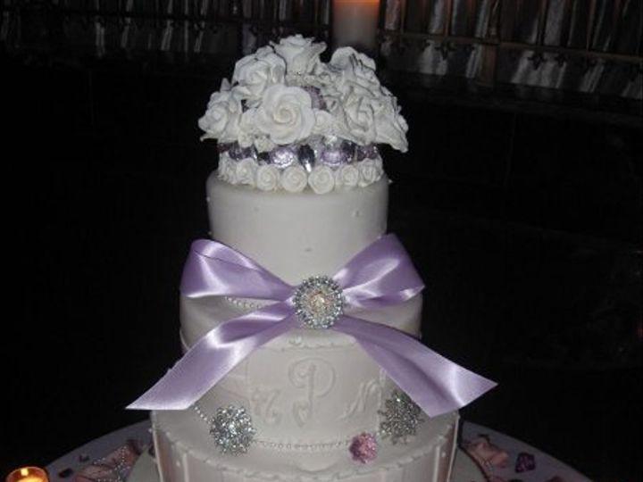 Tmx 1328555378504 Lilacbowweddingcake Brooklyn wedding cake