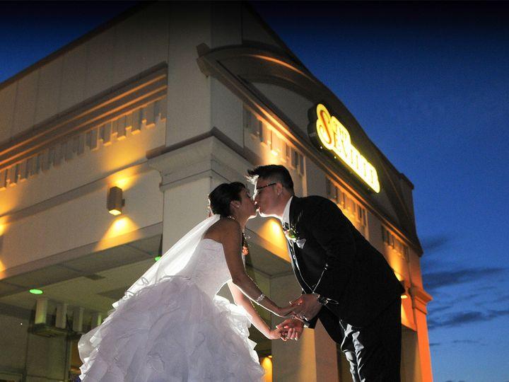 Tmx 1452930553657 Bride And Groom Outside Streamwood, IL wedding venue