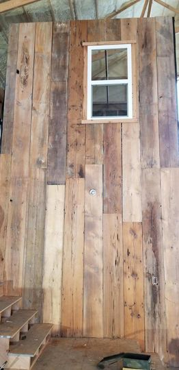 Old barn boards used as siding