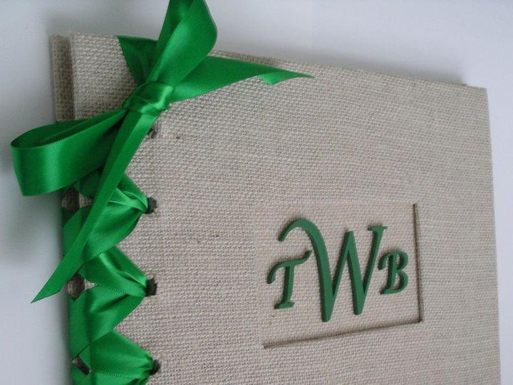 Tmx 1373332738165 Burlap Guestbook   Emerald Photo 1 Brooklyn wedding favor