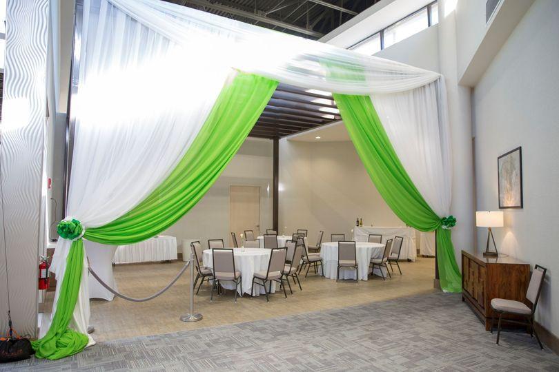 Pergola reception area