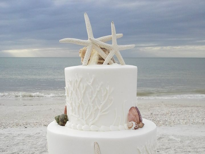 Tmx 1384968308477 Beach Wedding Cak Saint Petersburg, Florida wedding cake