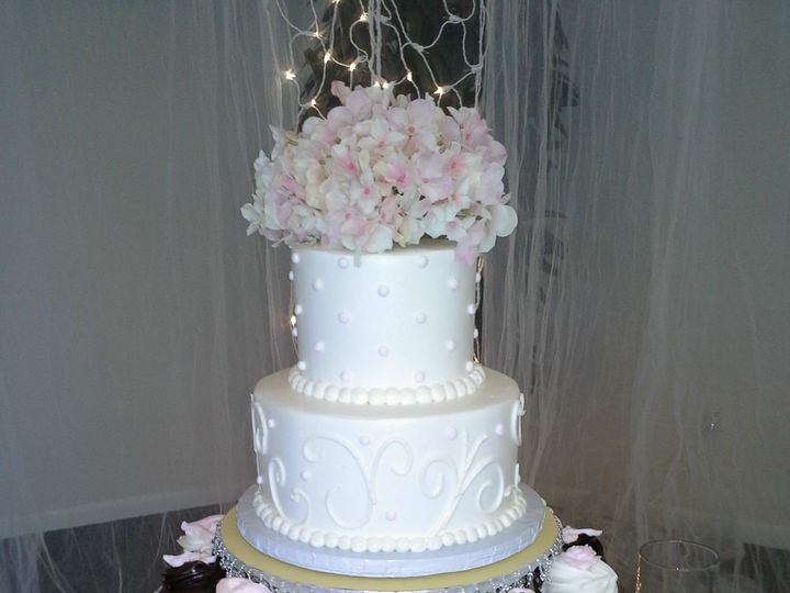 Tmx 1384970652454 Cupcake And Two Tier Wedding Cak Saint Petersburg, Florida wedding cake