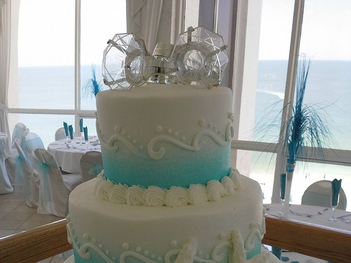 Tmx 1384971064852 Wedding Cake Blue And White Waves And Starfis Saint Petersburg, Florida wedding cake