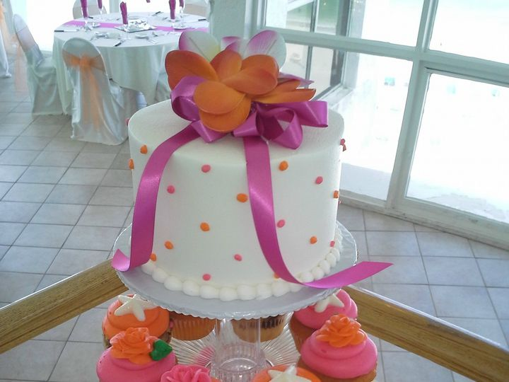 Tmx 1384971138044 Wedding Cupcakes Orange And Pin Saint Petersburg, Florida wedding cake