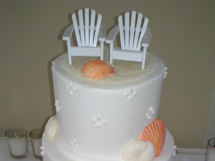 Tmx 1384971165888 Wedding Cake Quad Dots Orange And White Seashells  Saint Petersburg, Florida wedding cake