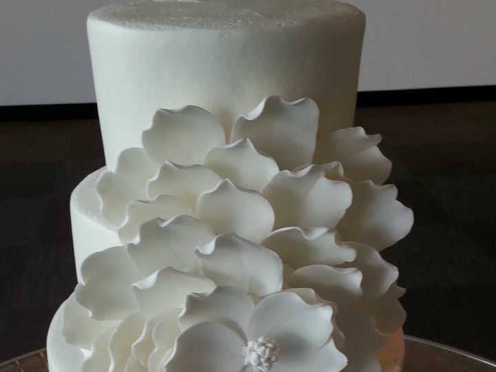 Tmx 1504125683794 Wedding Cake Large Flower Saint Petersburg, Florida wedding cake