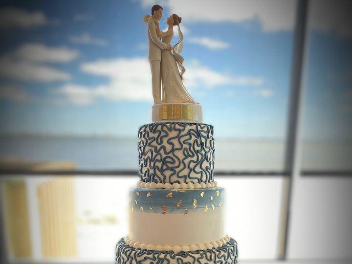 Tmx Blue Gold 51 184508 161660086818332 Saint Petersburg, Florida wedding cake